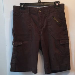Brown women's cargo shorts
